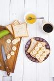 Acima da vista do café da manhã saudável Imagem de Stock Royalty Free