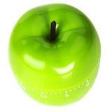 Acima da vista do temporizador verde pomiforme no branco Foto de Stock