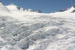 Acima das geleiras Fotos de Stock