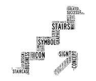 Acima das nuvens do texto da escada Imagens de Stock Royalty Free