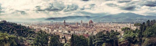Acima de Florencia Fotografia de Stock