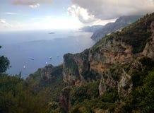 Acima de Positano, Itália Foto de Stock Royalty Free