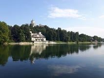 Acima de Turin em dias de verão fotos de stock royalty free