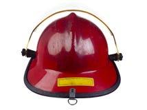 Acima do capacete próximo do incêndio Fotos de Stock
