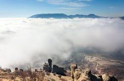 Acima do clouds1 Imagens de Stock