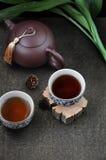 Acima do copo de chá chinês Imagem de Stock Royalty Free