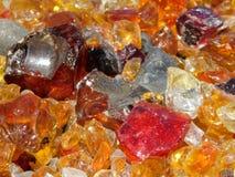 Acima do vidro alaranjado próximo e da arte natural da rocha imagem de stock