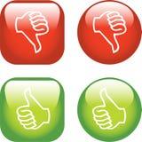 Acima dos polegares/para baixo ícones Fotografia de Stock