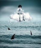 Acima dos tubarões Imagens de Stock