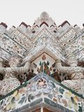 Acima perto do pagode principal em Wat Arun, Banguecoque, Tailândia fotos de stock