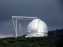 Acimut grande del telescopio Foto de archivo libre de regalías