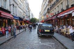 Łaciny ćwiartka Paryż Fotografia Royalty Free