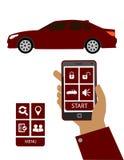 Acionador de partida ou sistema de controle remoto do carro Imagens de Stock Royalty Free