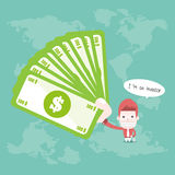Acionista e dinheiros Imagem de Stock Royalty Free