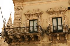 Acireale baroku miasteczko Fotografia Royalty Free