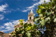 Acireale, the cathedral stock images
