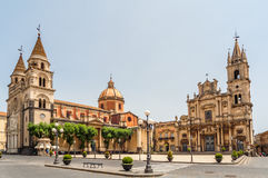 Acireale - Cathedral Royalty Free Stock Photography