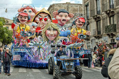 Acireale (CT) IL carnevale 2010 Photos stock