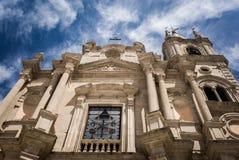 Acireale, die Kathedrale Lizenzfreie Stockfotos