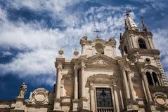 Acireale, die Kathedrale Lizenzfreies Stockfoto