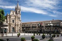 Acireale, die Kathedrale Lizenzfreie Stockbilder