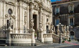 Acireale-Duomo Lizenzfreie Stockfotos