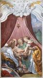 ACIREALE, ITALY - APRIL 11, 2018: The fresco of Judith Beheading Holofernes in church Chiesa di San Camillo by Pietro Paolo Vasta. 1745 - 1750 stock photo