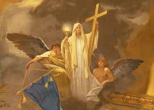 ACIREALE WŁOCHY, KWIECIEŃ, - 11, 2018: Fresk główna cnota wiara w Duomo - cattedrale Di Maria Santissima Annunziata fotografia royalty free