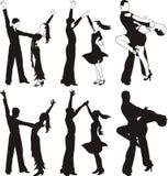Łaciński taniec - ballrom taniec Fotografia Royalty Free