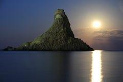 Acitrezza Faraglioni Moon Rise Sicilia Italy Italia - Creative Commons by gnuckx stock photo