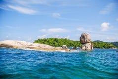 Acked big stone made by nature, Koh Lipe, Satun, Thailand Royalty Free Stock Photos