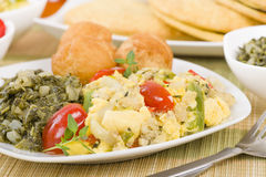 Ackee & Saltfish royalty-vrije stock afbeelding