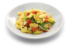 Ackee and saltfish, jamaican cuisine Stock Image