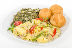 Ackee & Saltfish Royalty Free Stock Photos