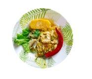 Ackee und saltfish Stockfoto