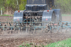 Ackerbau im Frühjahr Lizenzfreie Stockbilder