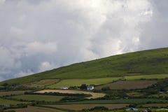 Ackerland auf Gower Peninsular Stockbilder