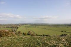 Ackerland auf Somerset Levels von Süd- West-England Stockbilder