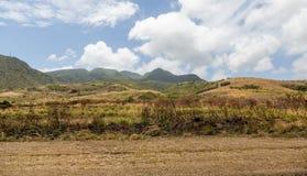 Ackerland auf St. Kitts Stockbild