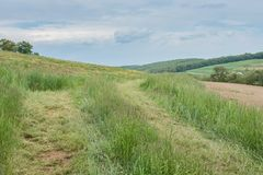 Ackerland, das William Kain Park in York County, Pennsylva umgibt stockbild
