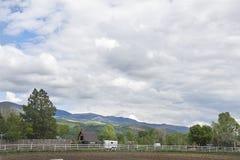 Ackerland in den wasatch Bergen Lizenzfreie Stockfotografie