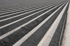 Ackerland in der Symmetrie Stockfoto