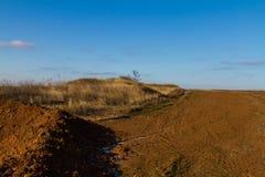 Ackerland in der taurian Steppe Lizenzfreie Stockbilder