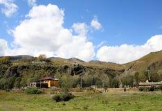 Ackerland in der tibetanischen Hochebene Lizenzfreies Stockbild