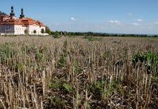 Ackerland in der Tschechischen Republik Lizenzfreies Stockbild