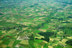 Ackerland in Deutschland Stockbild