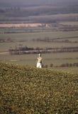 Ackerland die Barton-Hügel Bedfordshire Lizenzfreie Stockfotografie
