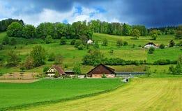 Ackerland die Schweiz Lizenzfreie Stockfotos