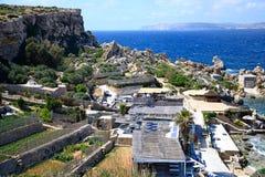 Ackerland entlang der Küste an der Paradies-Bucht, Malta Lizenzfreie Stockfotografie