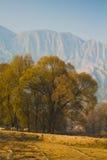 Ackerland in Gansu-Porzellan Lizenzfreies Stockbild